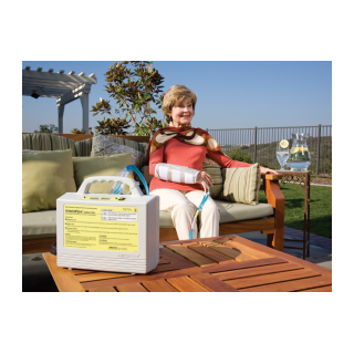 Aircast Upper Extremity Cuff - Person Sitting Outdoors