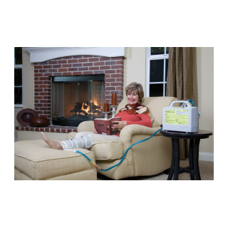 Aircast Lower Extremity Cuff - Reclining in living rorm