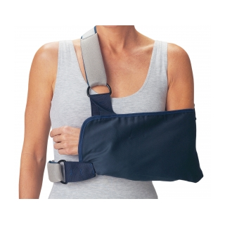 Procare Shoulder Immobilizer with Foam Straps - On Arm