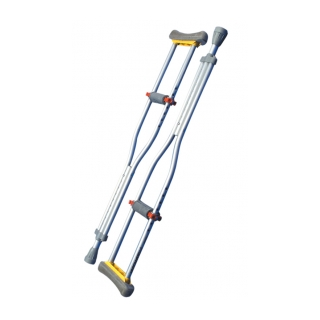 Procare Adjustable Anodized Aluminum Crutches