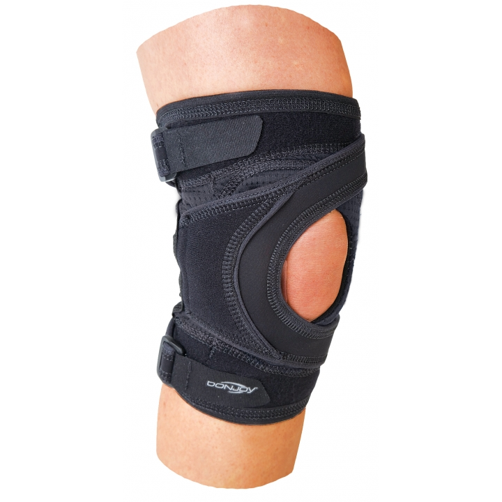 DonJoy Tru-Pull Lite - On Knee 3/4 View