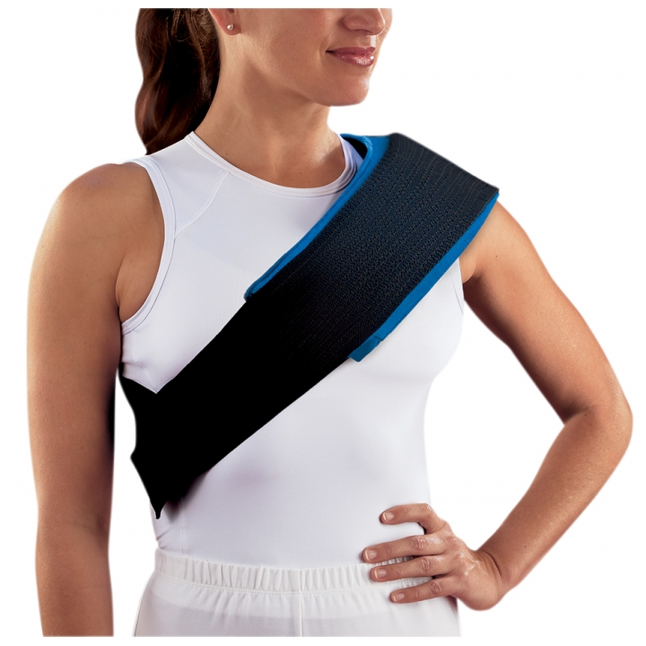 Procare Hot/Cold Therapy Wrap - On Shoulder
