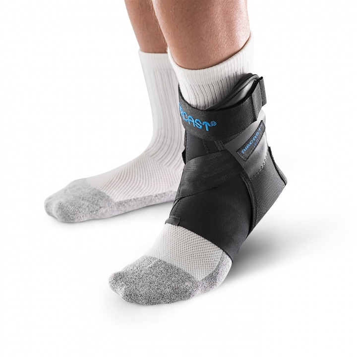 Aircast AirLift PTTD Brace - 3/4 View - On Ankle