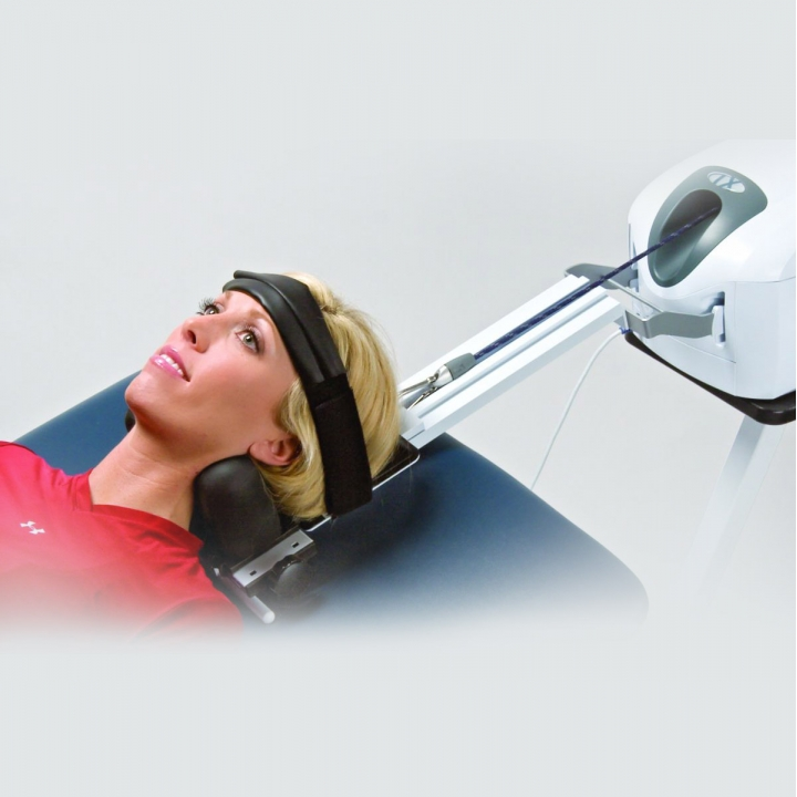 Saunders Cervical Traction - In Use