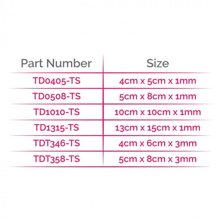 Matrix HD® Allograft - Size Chart