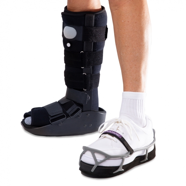 ProCare ShoeLift in shoe with walking boot